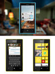 Facebook HOME MockUP for Windows Phone