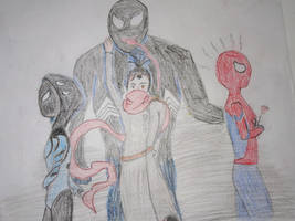 Spider-man, venom and 2 Ocs
