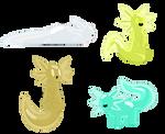 Jelly Axolotl Adopts #3 (1/4 Open!) by OffbrandWasteland