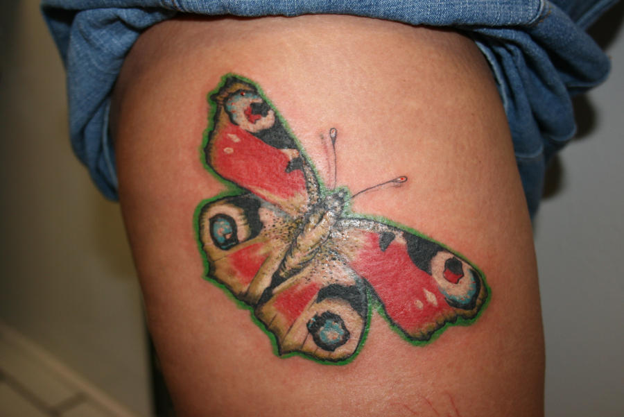 7fef45160 Peacock butterfly tattoo - photo#3
