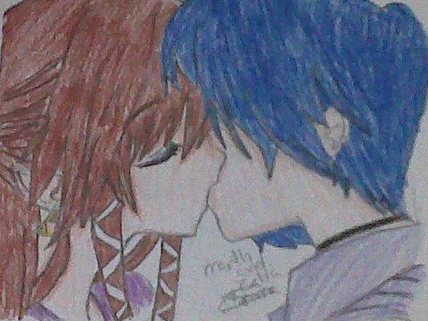 just one kiss... Marth x Zelda by Zero09Ike