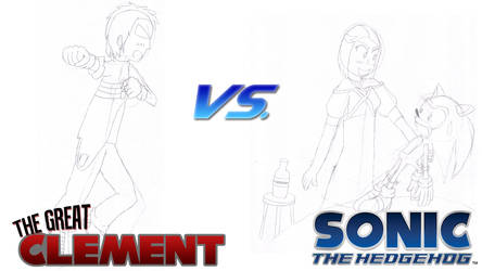 Clement vs. Sonic 06 -draft- by karto1989