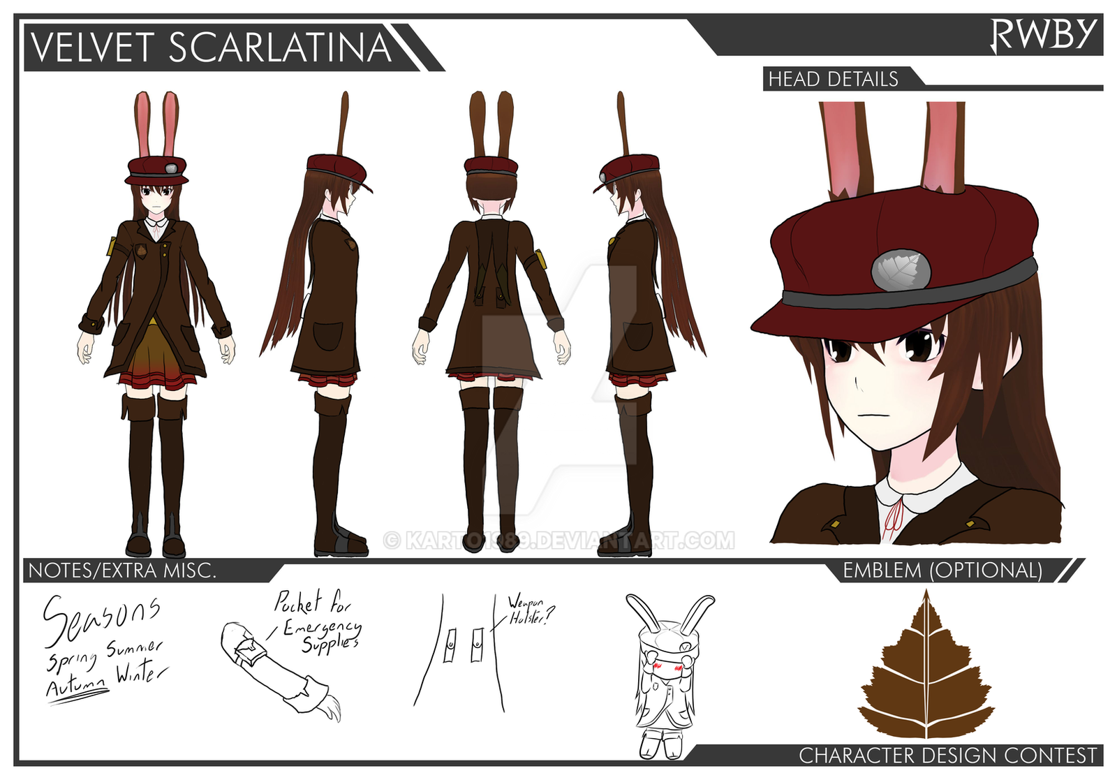 Game Character Design Competition 2015 : Rwby velvet contest entry by karto on deviantart