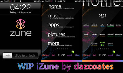 iZune theme for iphone WIP
