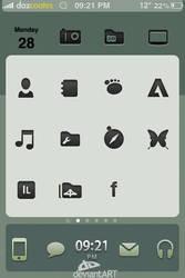 Deviantart iphone theme WIP