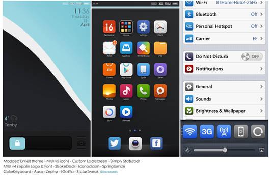 IiPhone 5 MIUIv5 / Enkelt Mod