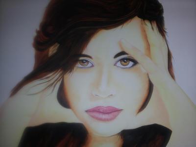 beautiful Girl Portrait by dazzerdarren
