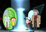 Rick and Morty Meets Dipper and Ford Crossover