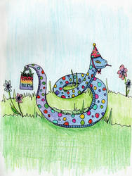 Birthday Serpent by kaidendunn