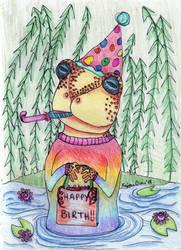 Birthday Toad by kaidendunn