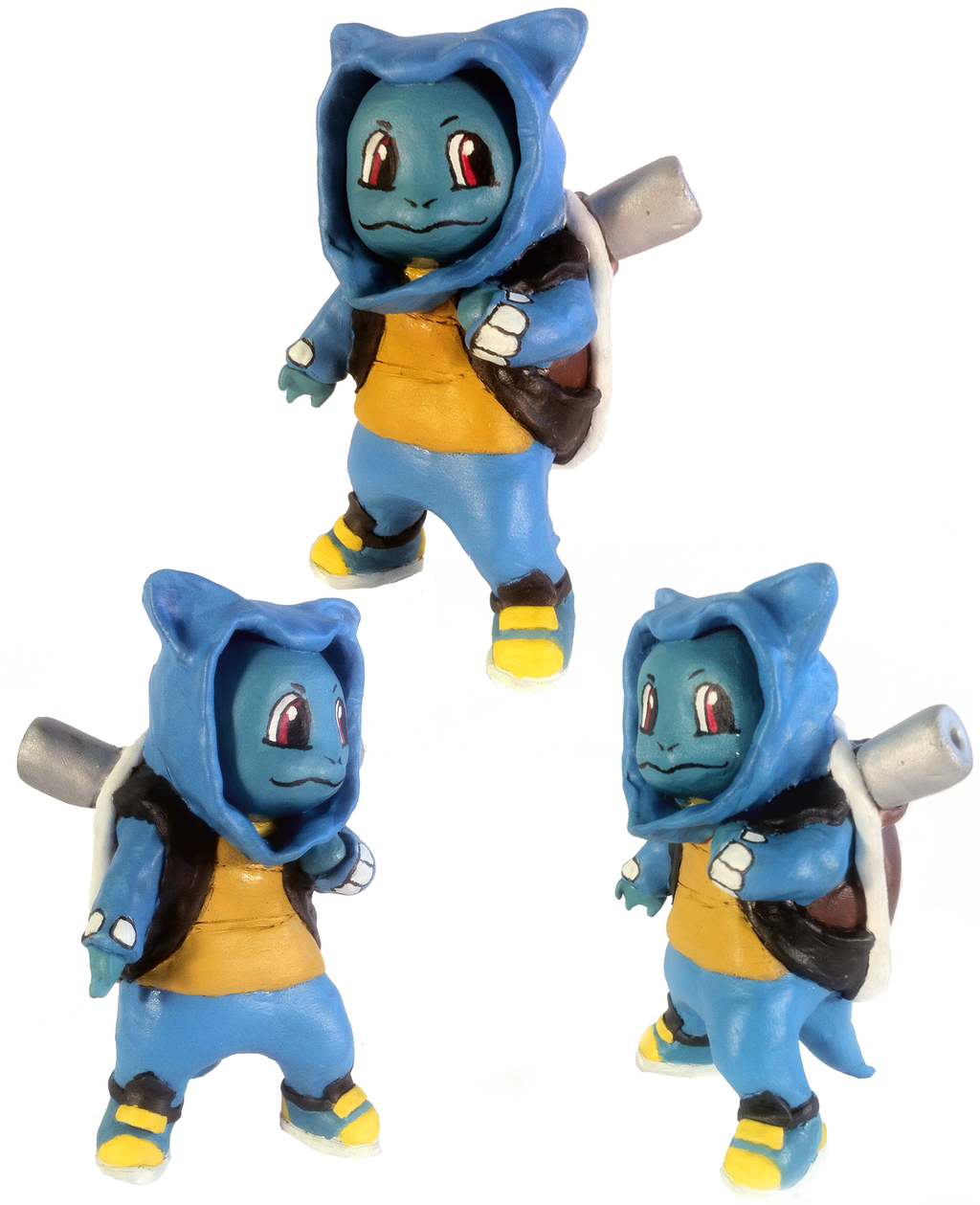 Squirtle wearing blastoise hoody (Sculpt) by tripled153 on ...