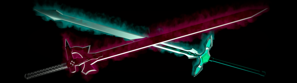 Crossed Elucidator And Dark Repulser 3840x1080 By RocketSurgeonn