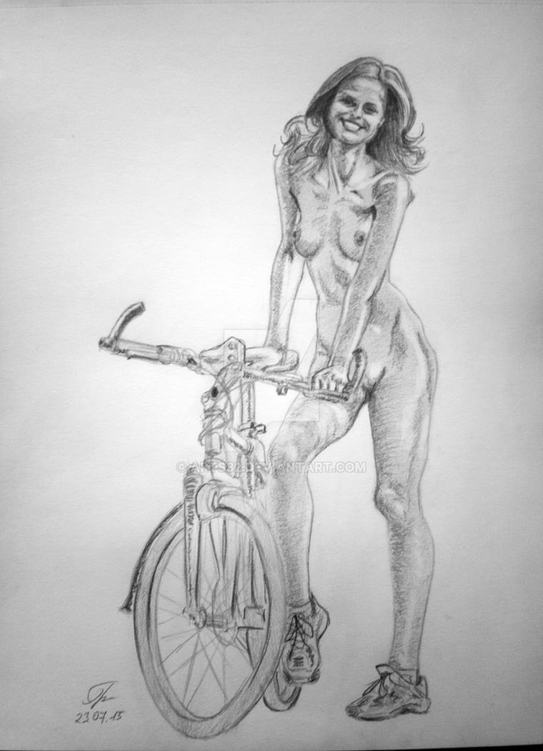 The girl cyclist by Arts82