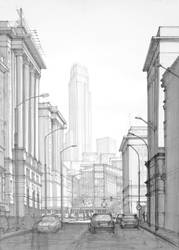 Modern city based on Warsaw by Gopalik