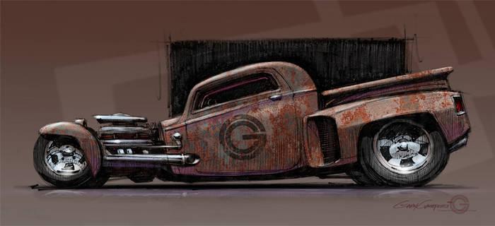 Rusty Truck by GaryCampesi