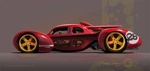 A hot rod from a parallel universe. by GaryCampesi
