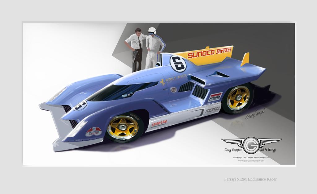Penske/Ferrari 512M Projected into the future by GaryCampesi