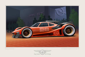 Custom track car based on an Opel GT mid section by GaryCampesi