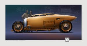 1917 Miller Golden Submarine Futurized