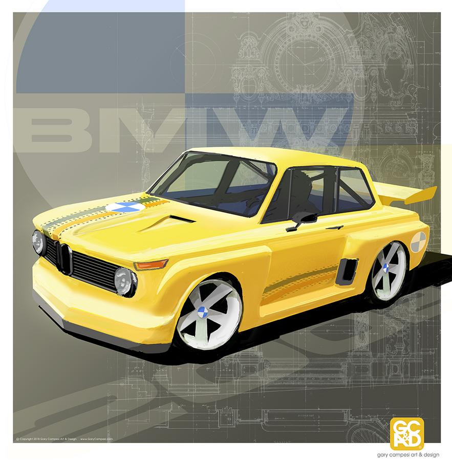 1970 BMW 2002 Hot Rod by GaryCampesi