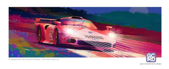Porsche GT1 at night