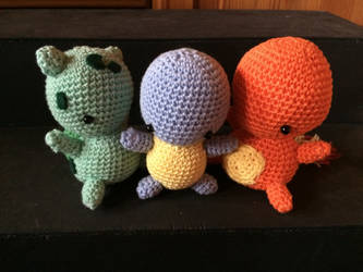 The starter trio by thehobbypanda
