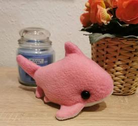 Pink shark plush by thehobbypanda