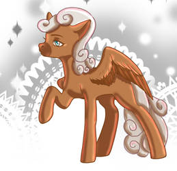 Whipped Cream as a female pony