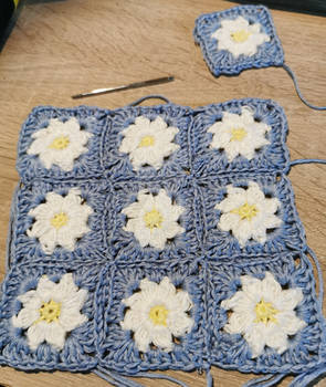 Daisy square cardigan project For my doll (WIP)