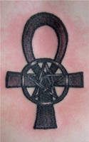 Ankh with pentacle by HotWheeler