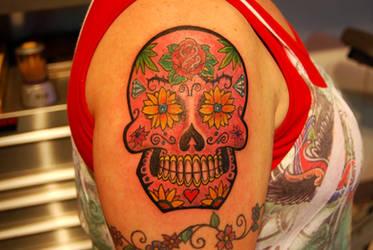 First Sugar skull by HotWheeler