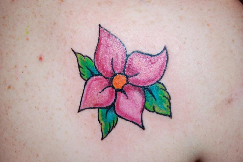 Flower on shoulder - shoulder tattoo