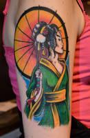 Geisha pin up by HotWheeler