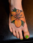 Tiger lily on foot