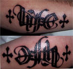 Life and Death ambigram