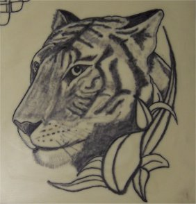 Tiger tattoo on fake skin by hotwheeler on deviantart for How to make fake skin for tattooing