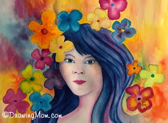 Flower Escape by DrawingMom