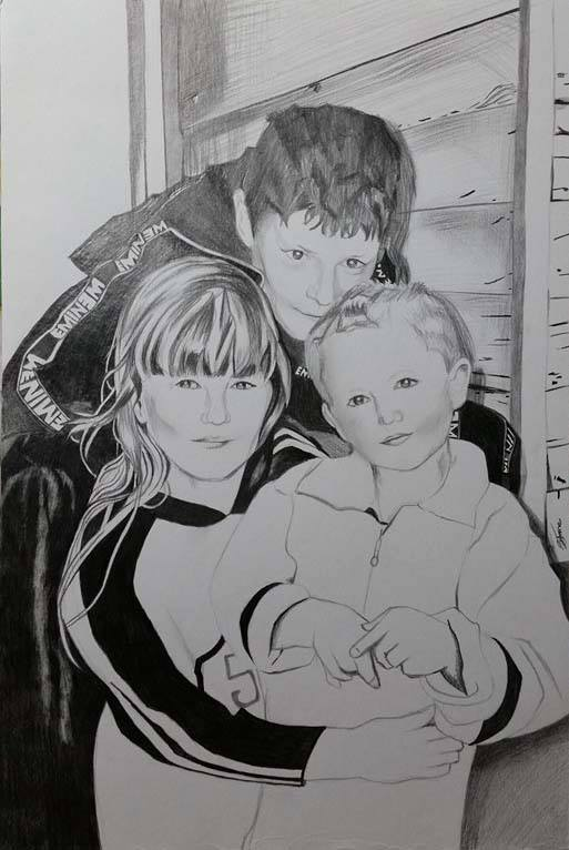 Family portrait for a client by Sarah-Janee
