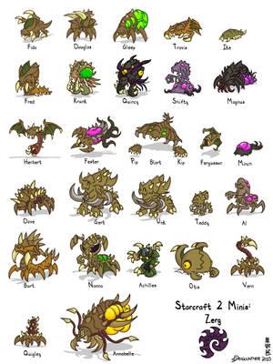 Starcraft II Minis: Zerg by Draguunthor