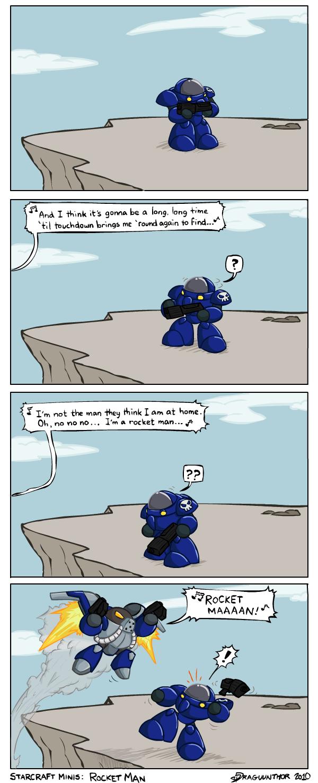 Starcraft 2 Minis: Rocket Man by Draguunthor