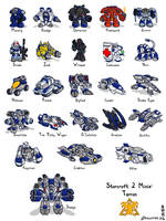 Starcraft II Minis: Terrans by Draguunthor