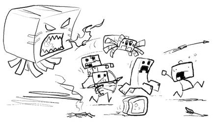 Minecraft Minis Speed Scribble by Draguunthor