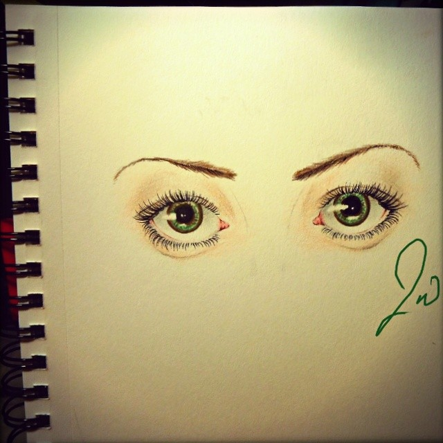 Those Big Green Eyes by JenniInoue