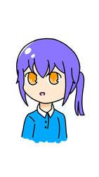 Chibi anime girl, I guess by MonochromeShangriLa