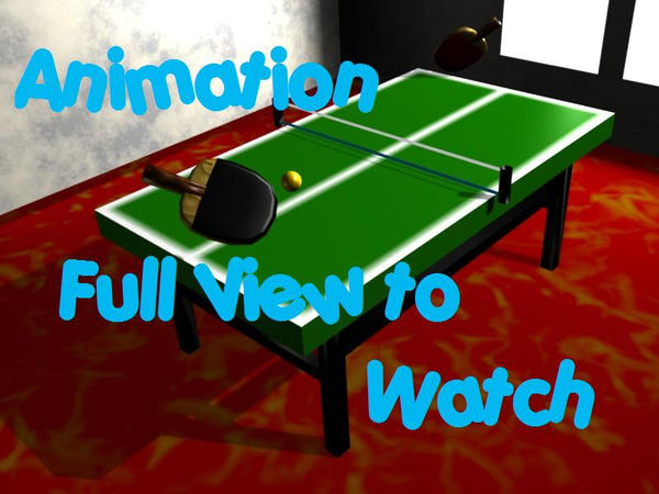 Ping Pong Playing 3D Animation By Zeela12 On DeviantArt