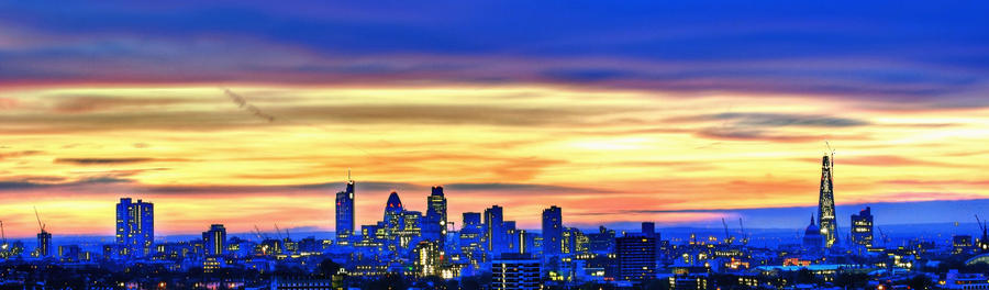 Panoramic View - Sun Rise over London Skyline by dynamick ...