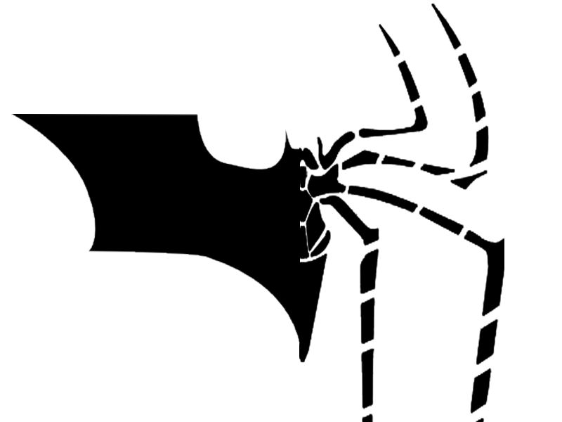 spider man batman logo fusion by thelastgallant on deviantart rh thelastgallant deviantart com spider man clip art pictures spiderman clipart black and white