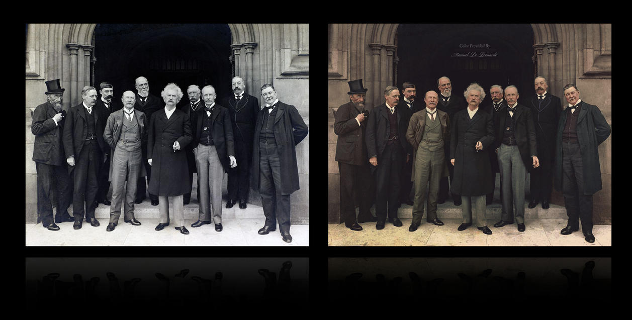 Mark Twain visits the Houses of Parliament, 1907 by JohnnyMex