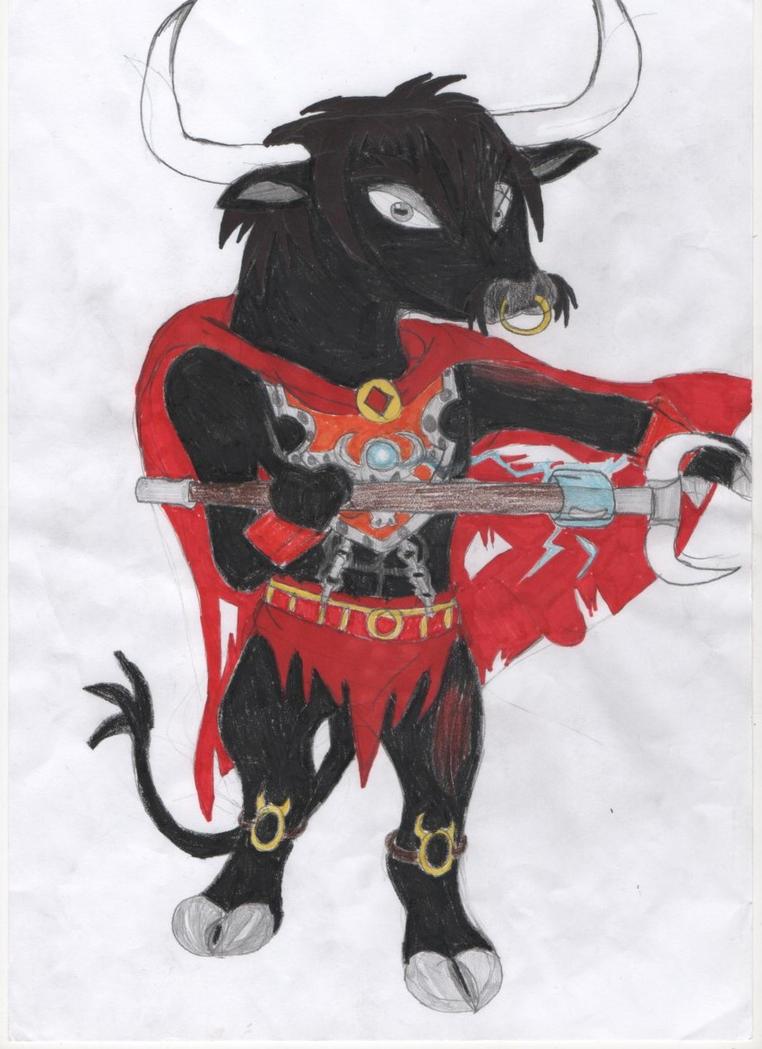 Cedric the Bull Chima non minifig style by darkhaven97