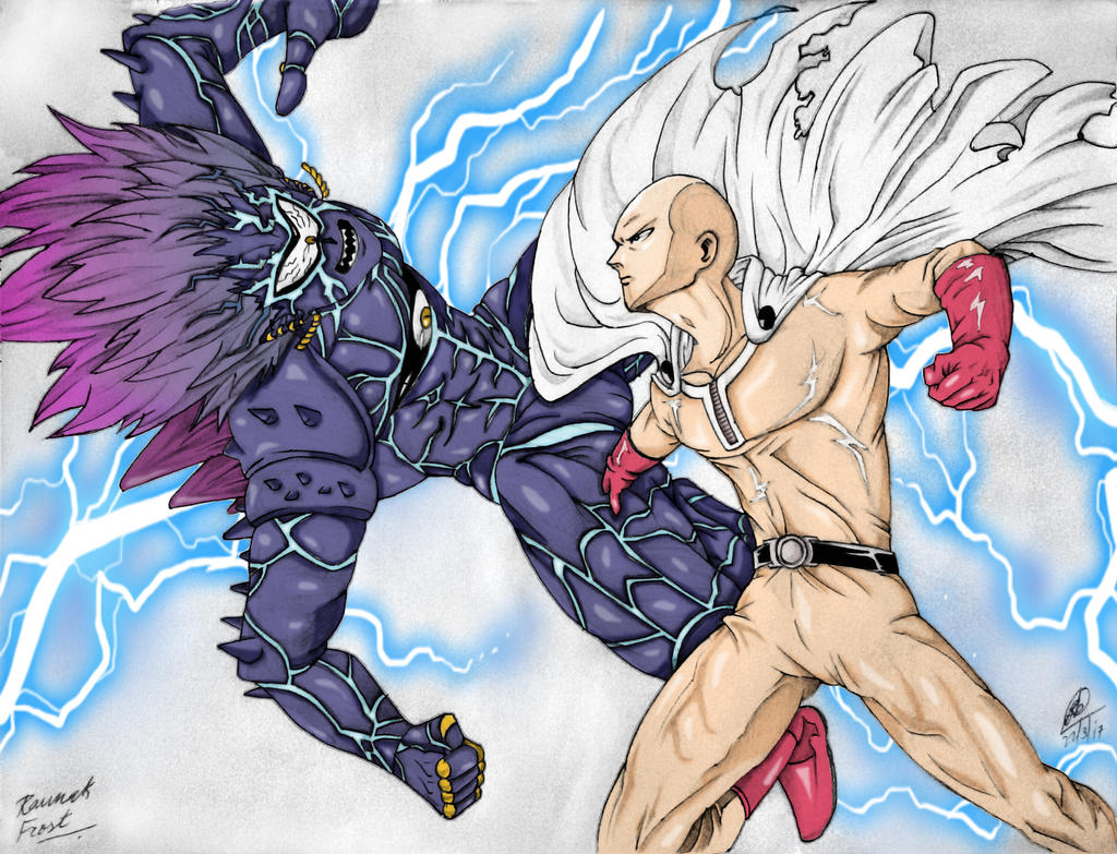 Saitama vs Lord Boros colour by FrostTheBatman on DeviantArt